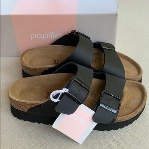 $FIRM❣️BIRKENSTOCK PAPILLIO Black Platform Sandals